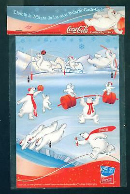 COCA COLA STICKERS POLAR BEARS ATENAS 2004 ARGENTINA