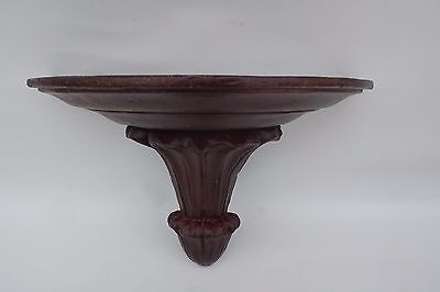 Antique French Carved Wood Wall Clock Bracket Corbel Shelf