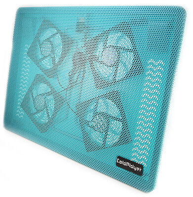 Blue LED USB Big Fan Cooling Cooler Pad for 15 Inch Laptop PC Notebook Silent B