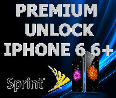 FACTORY UNLOCK SERVICE USA SPRINT iPhone 5 5s 5c 6 6+ Plus Clean Imei Only