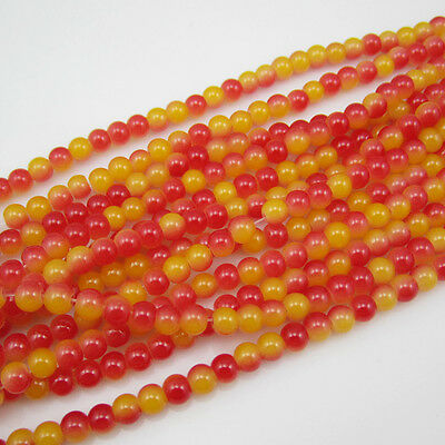 100pcs 4mm  Ball Loose Round Glass crystal Beads for Fit Bracelets Necklaces B31
