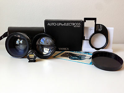 YASHICA WIDE ANGLE TELEPHOTO LENS SET PLUS AUTO-UP CLOSE UP LENS KIT WITH CASES
