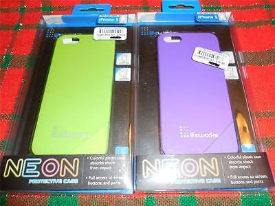 lifeworks NEW Neon Protective Case for iPhone 5 (Green or Purple) NIB