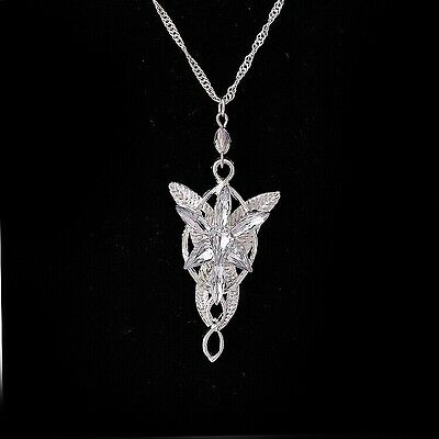 Fashion ARWEN'S EVENSTAR NECKLACE LORD OF THE RINGS SILVER plated pendant  #8