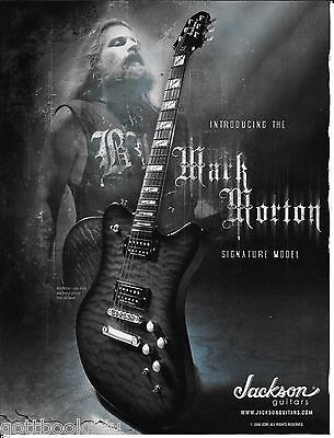 Jackson Guitars  - Mark Morton of Lamb of God - 2006 Print Advertisement
