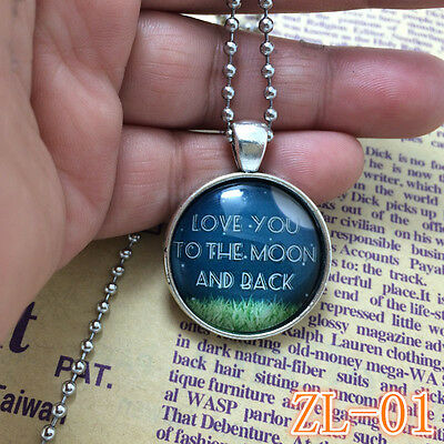 2015 HOT Necklaces I Love You To The Moon And Back Jewellery Gifts for Her ZL01.