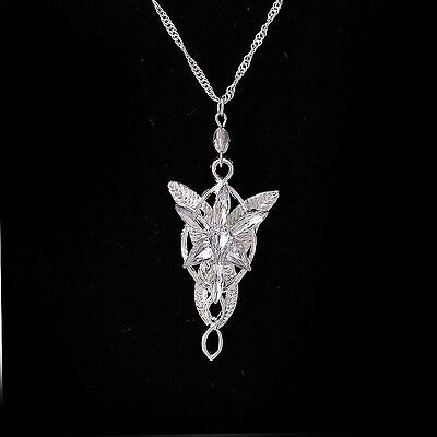 Fashion ARWEN'S EVENSTAR NECKLACE LORD OF THE RINGS SILVER plated pendant  #7