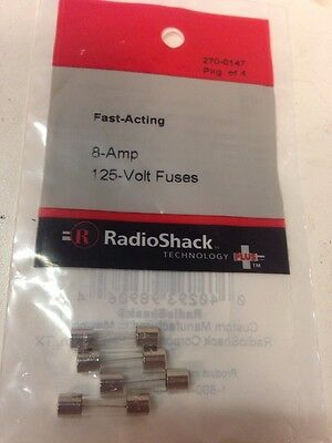 Fast-Acting Fuses 8 Amp 125 Volt #270-0147 By RadioShack