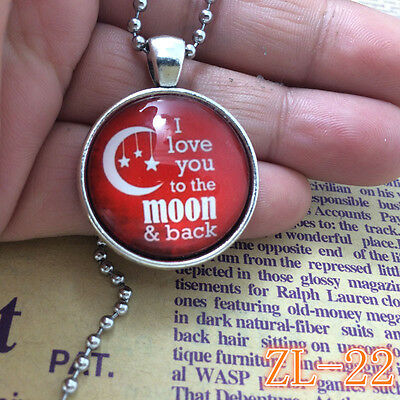 2015 HOT Necklaces I Love You To The Moon And Back Jewellery Gifts for Her ZL22.