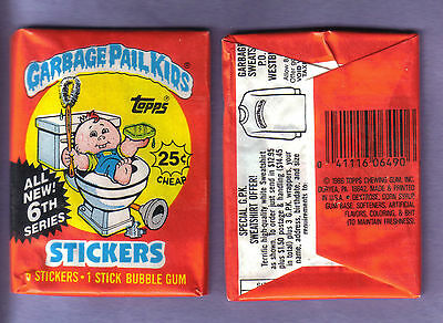 1986 Garbage Pail Kids  Original Series 6 Wax Pack (x1) from Box!