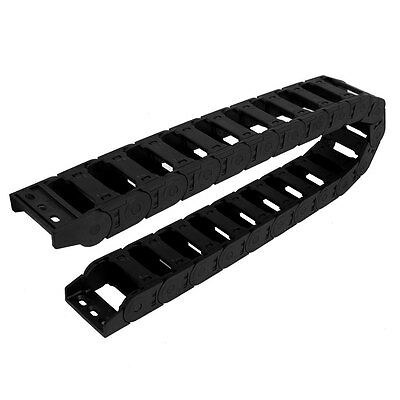 Black Plastic Drag Chain Cable Carrier 25mm x 57mm for CNC Machine