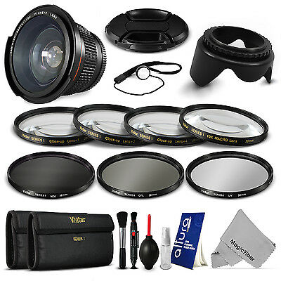 58MM 0.35x Fisheye + Close Up & Filter Kit for Canon T5i T4i T3i T3 T2i T1i SL1