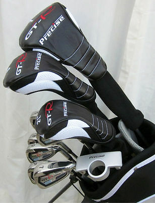 NEW Mens RH Complete Golf Club Set Driver Wood Hybrid Irons Putter Stand Bag