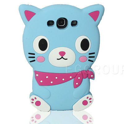 Cool Cat Soft Silicone Case Cover Protector Skin For Samsung Galaxy S3 III I9300