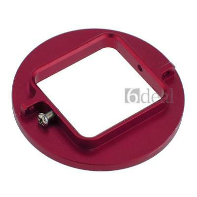 58mm UV Filter Adapter Ring Universal Gopro HD Hero 3 Case Mount Red