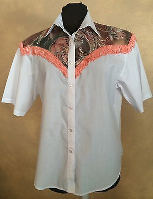 VTG FASHION BY BETTYE SIZE 16 EMBEILSHED WESTERN LINE DANCE SQUARE DANCE BLOUSE