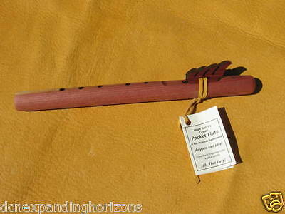 USA Native American Flute Short Pocket aromatic Cedar Wood, Key: A; MADE IN USA