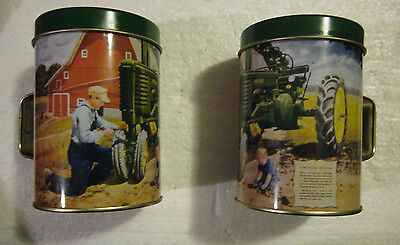 JOHN DEERE tin Salt & Pepper  Shakers- New No Box