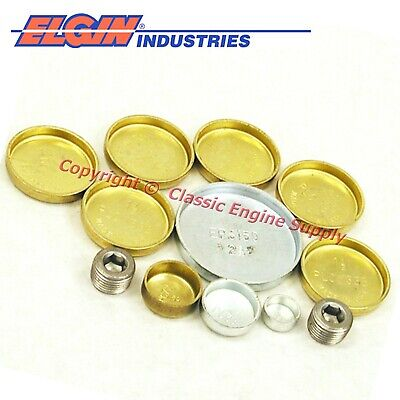 New Elgin Brass Freeze Plug Set Oldsmobile 260 307 330 350 400 403 425 455