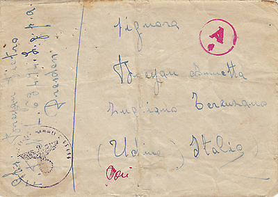 GERMANY 1943  cover from FELDPOST 63494  to   ITALY