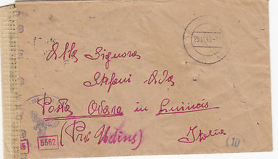 GERMANY 1943  cover from ITALIAN INTERNEE  LAGER ESSEN to  ITALY