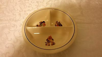 Vintage Porcelain Baby Feeding Dish Bowl Grille Plate