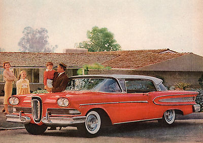 "Vintage Original 1958 EDSEL CITATION HARDTOP ADVERTISEMENT- 10 "" X 13 """