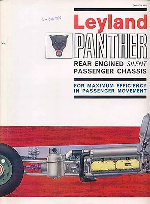Leyland Panther Rear Engined Bus & Coach Chassis 1965 original UK Brochure 880a