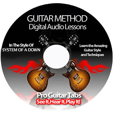 System Of A Down Guitar Tab Software Lesson CD + FREE BONUSES