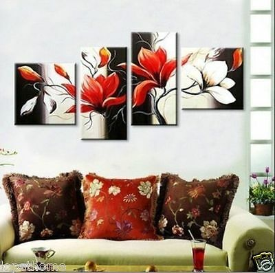 HUGE MODERN ABSTRACT WALL DECOR ART CANVAS OIL PAINTING,Classic white(no framed)