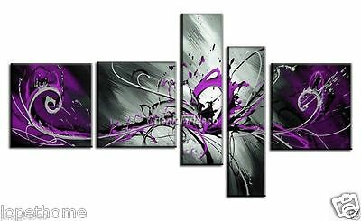 5pc Modern Abstract Huge Art Oil Painting Handmade canvas on wall (NO frame)