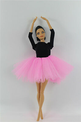 Fashion Royalty Pink Ballet Lace Dress outfit Costume clothes For Barbie Doll