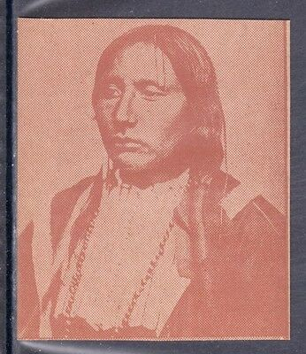 VERY EARLY NATIVE AMERICAN STRIP CARD, INDIAN CHIEF BIG TREE
