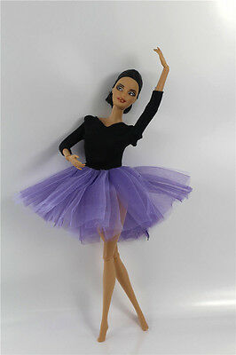 Fashion Royalty Purple Lace Ballet Dress outfit Costume clothes For Barbie Doll