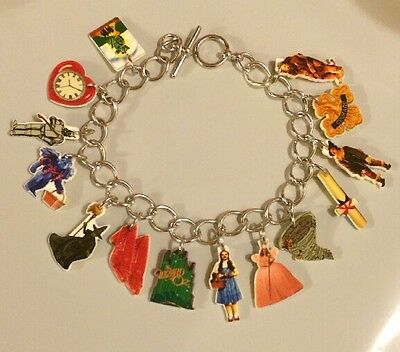 WIZARD OF OZ  BRACELET WICKED WITCH CHARMS GLINDA DORTHY TOTO LION TIN MAN & +++