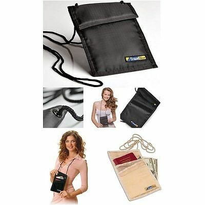 Travel Neck Wallet Security Passport Money Credit Card Pouch