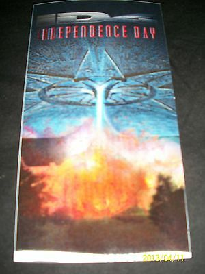 Vintage INDEPENDENCE DAY 1996 Movie 3D Collectors Card*White House Down*MiB3*