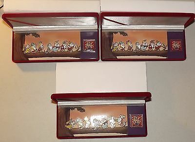 LOT OF 3 DISNEY SNOW WHITE AND THE SEVEN DWARFS PIN SET BOXED DIAMOND COLLECTION