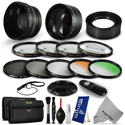 58MM Essential Lens & Filter Kit for Canon EOS Rebel T5i T4i T3i T3 T2i XSi SL1