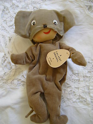 CALVERT MOUSE MASK DOLL-VINTAGE-ORIGINAL-WITH TAGS