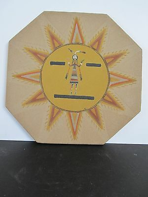 "Authentic Navajo Sand Painting ""Sun and Eagle with Holy Boy"" by G Layepe"