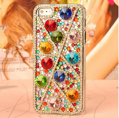 New fashion Diy Colorful crystal Finished HARD Case cover for apple iPhone 5 5S
