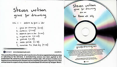 STEVEN WILSON Grace For Drowning UK 12-trk numbered/watermarked promo test 2-CD