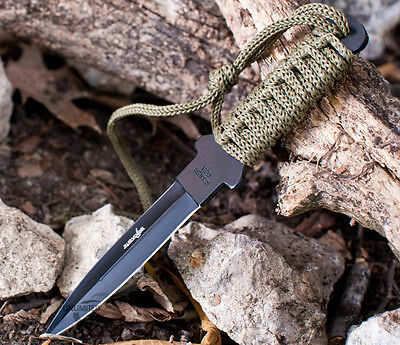 """7"""" TACTICAL COMBAT FIXED BLADE MILITARY STILETTO KNIFE Throwing Survival Hunting"""