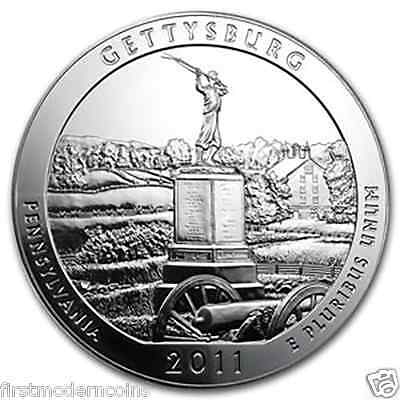 2011 Gettysburg 5 Oz .999 Silver America the Beautiful Coin