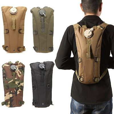 Tan 3L Hydration Packs Tactical Water Bag Assault Backpack Hiking Pouch