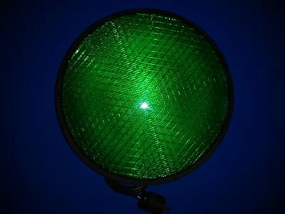"""Dialight LED Traffic Signal Light / Green / 12"""" / with gasket and plug"""