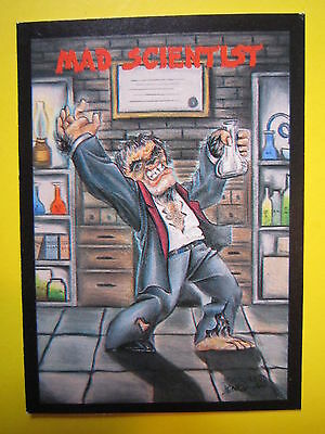 Humanoid MAD SCIENTIST ~ 1991 #39 Monster in My Pocket Collectible TRADING CARD