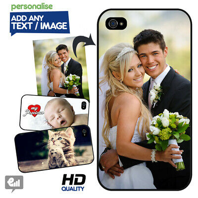 PERSONALISED Photo HARD Case for iPhone Image Picture Gift Company Logo Custom