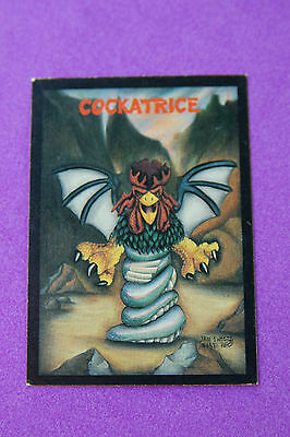 COCKATRICE Reptilian Bird 1991 #7 Monster in My Pocket Collectible TRADING CARD